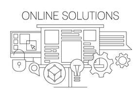 Online Solution Vector Illustration