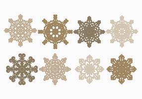 Vector Snowflakes Set