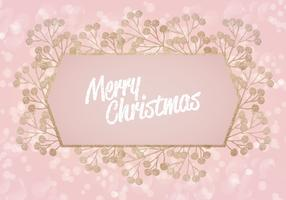 Vector Pink Glitter Christmas Background