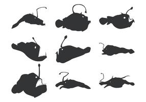 Angler Vector Silhouettes