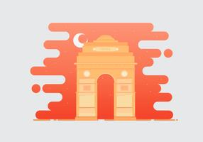 India Gate Landmark Illustration