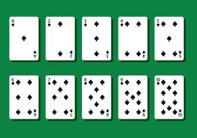 Spade Poker Card Vectors