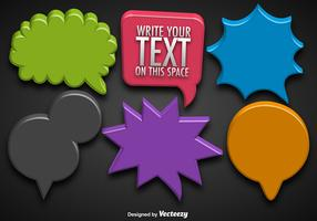 Vector Collections Of 3d Colorful Speech Bubbles