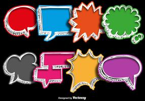 Vector Collections Of Hand Drawn Colorful Speech Bubbles