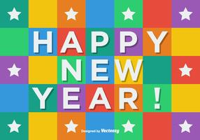 Cubic Happy New Year Vector Background