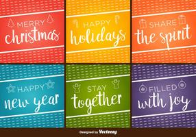 Happy Holidays Vector Backgrounds