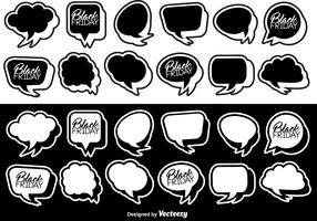 Vector Flat Stickers Of Speech Bubbles