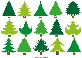 Vector Set Of 15 Pine Icons