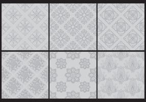 Gray Monochromatic Toile Patterns