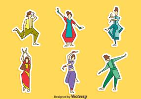 Bollywood Dance Collection Vector