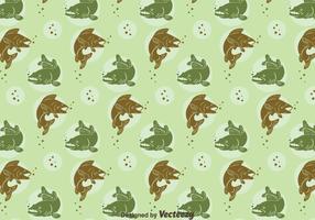 Walleye Seamless Pattern
