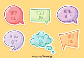 Trivia Quiz Vector Set
