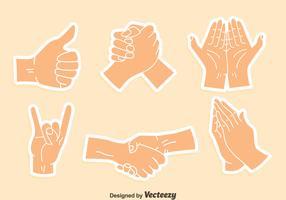 Arm Gesture Sticker Vector