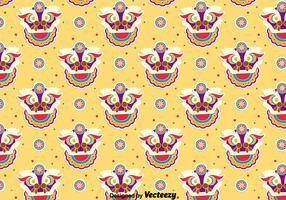 Funny Lion Dance Seamless Pattern