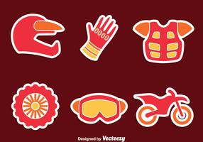 Moto Cross Element Vector Set