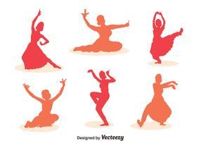 Woman Bollywood dance Vector Sets