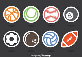 Balls Sticker Vector Set