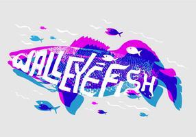 Free Walleye Vector Illustration