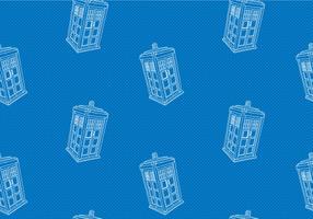 Free Tardis Seamless Pattern Vector Illustration