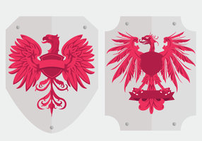 Polish eagle logo shield vectors