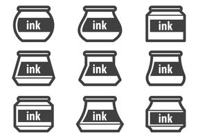 Free Ink Pot Vectors