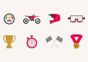 Flat Dirt Bike Icon