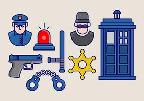 Tardis Vector Icon Pack