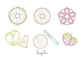 Bagel Icon Set