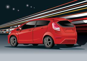 Ford Fiesta Vector with Limbo Background
