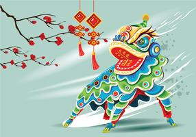 Chinesse Lion Dance Vector