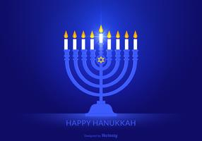 Free Happy Hanukkah Vector Background