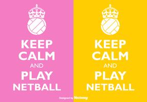 Free Vector Keep Calm And Play Netball