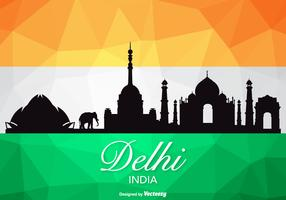 Free Vector Delhi Skyline Silhouette