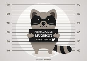 Free Vector Cartoon Arrested Raccoon