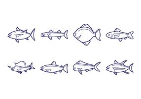 Free Fish Icon Vector