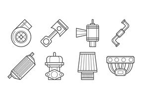 Free Turbo kit Icon Vector