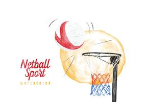 Free Netball Watercolor Vector