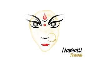 Free Navratri Watercolor Vector