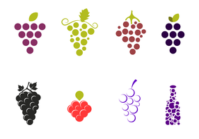 Free Grapes Vector Pack