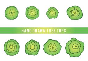 Free Hand Drawn Tree Tops Vector
