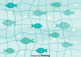 Fish Net Background Vector