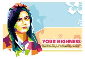 Your Highness in Popart Portrait - WPAP