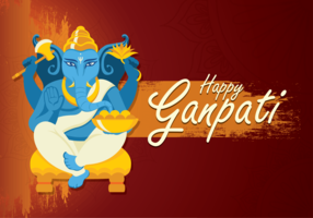Happy Ganpati Illustration