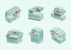 Photocopier modern photocopy machine flat design