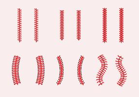 Baseball Laces Vector Sets
