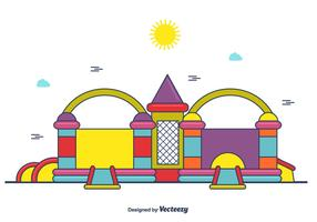 Cute Bounce House Vector