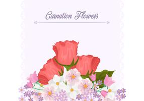 Carnation Flower Background Template