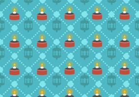 Hari Raya Pelita Lamp Vector Pattern