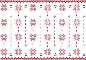 Pattern Of Indonesian Songket Illustration