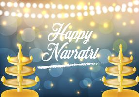 Happy Navrati Illustration